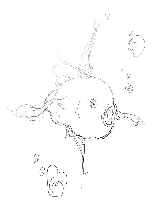 pesce sorpreso a penna