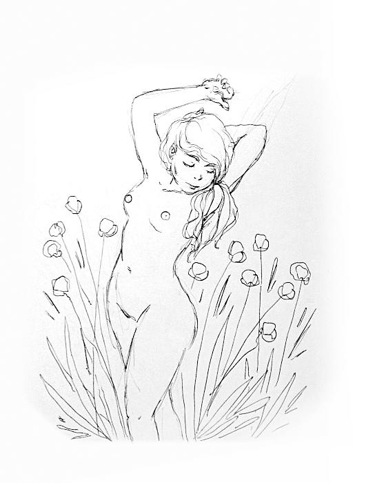 Ragazza tra i fiori