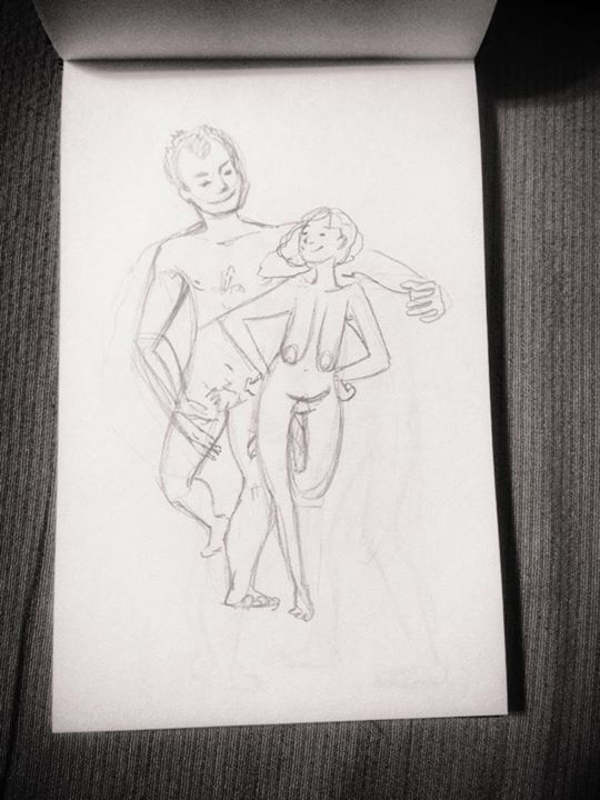 lovers young boy and old woman naked