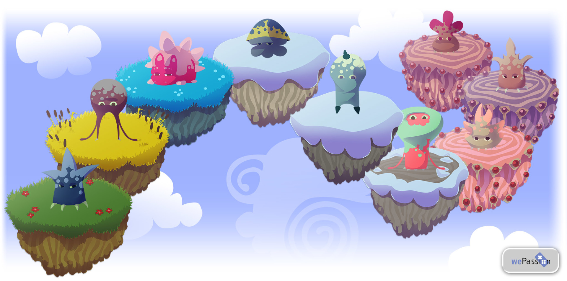 Cute Clicker Heroes sulle isole