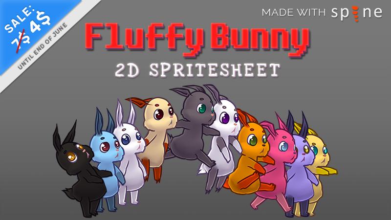 rabbit spritesheet for videogames on sale
